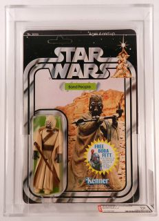 1978 Kenner Star Wars 20 Back X Sand People AFA 70 Clear