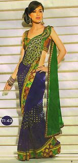 indian bollywood peacock pallu Wedding ​Collection saree sari aa