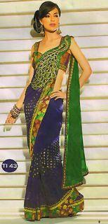 indian bollywood peacock pallu Wedding Collection saree sari aa