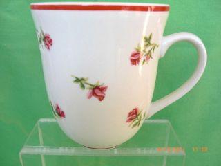 LAURA ASHLEY HATHAWAY ROSE Pink, Green & White Floral Coffee Tea Mug