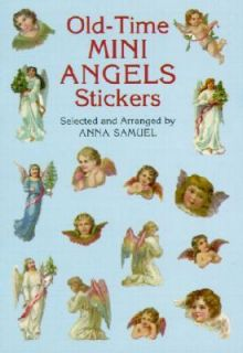 Old Time Mini Angels Stickers by Anna Samuel 2000, Paperback