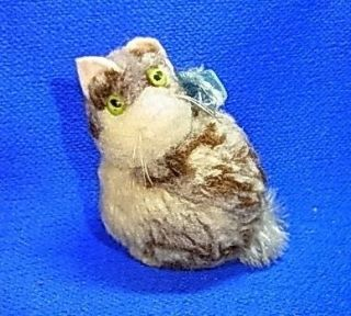Vintage German Pure Wool Steiff Cat without Button #CE