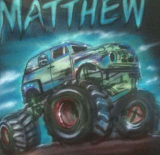 Gravedigger 4x4 Monster Truck NEW T SHIRT AIRBRUSH Monster Truck