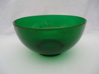 Anchor Hocking Forest Green Punch Bowl Vintage 1940s Depression Glass