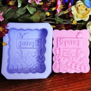 Season of Spring (R1049) Silicone Handmade Soap Mold Crafts DIY Mold
