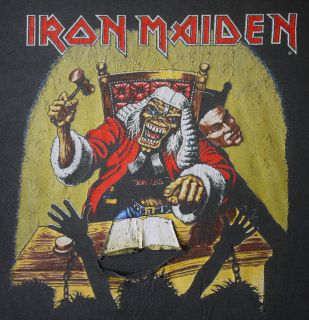 vintage iron maiden shirt in Clothing, Shoes & Accessories