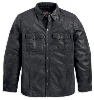 harley davidson leather shirt in Clothing,