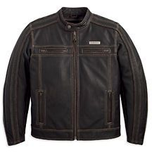 mens harley davidson leather jacket in Clothing,