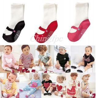 Prs Baby Kids Children Girl Infant Toddler Anti slip Shoes Cotton