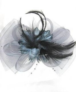Mesh Fascinator Hat Bow Shape Party Hair Clip Great For Wedding