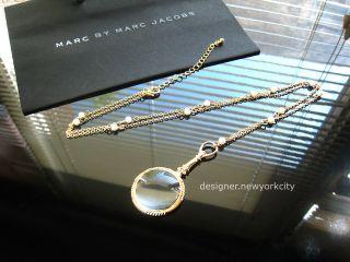 NEW Authentic MARC JACOBS Gold Monocle Magnifier Necklace