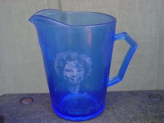 Newly listed Vintage Cobalt Blue Glass Shirley Temple Creamer Pitcher
