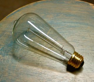 Style Light Bulb, Vintage Edison Reproduction 60 Watt Clear Glass Bulb