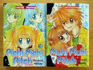 Set of 2 Pink Hanamori Pichi Pichi Pitch Manga Series 3 & 4
