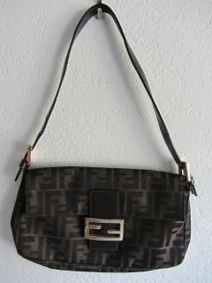 FENDI Zucca Baguette Handbag Purse in EXCELLENT CONDITION 100%