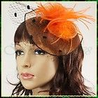 Bridal Wedding Cocktail Party Feather Fascinator Hair Clip Top Hat