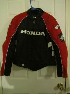 PREOWNED WOMENS JOE ROCKET HONDA MOTORCYCLE JACKET LARGE RED/BLACK