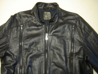 mens HEIN GERICKE Cafe Racer MOTORCYCLE JACKET Coat size 42