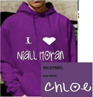 Personalised I love/heart Niall Horan Hoody