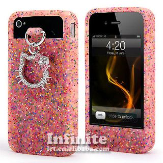 Pink Hello Kitty Silicone TPU Soft Case Skin Cover For Apple iPhone 4