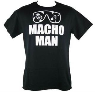 Macho Man Randy Savage Black Sunglasses Youth Size T shirt