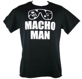 Macho Man Randy Savage Black Sunglasses Youth Size T shirt