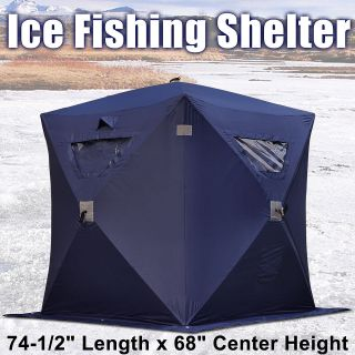 Ice Fishing Shelter 1 Man 2 Person Pop Up Portable Shanty House Tent