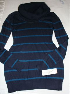 NEW Liz Lange Maternity Cowl Neck sweater plum, black, blue stripe