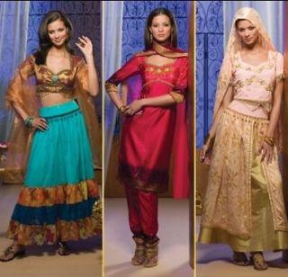 Sari Pants East Indian Top Skirt Simplicity Sewing Pattern 4249 sz 6