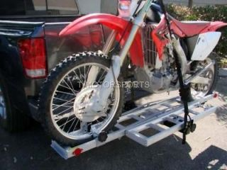 MOTORCYCLE CARRIER RACK RAMP TRAILER HITCH HAULER TRUCK PICK UP SUV RV