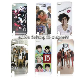 One Direction JUSTIN BIEBER Case for ipod touch 4 Case +ID necklace