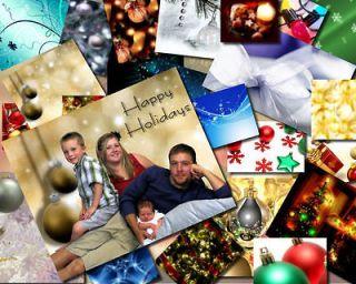 Digital Backdrops/Backgrounds & Christmas Cards set