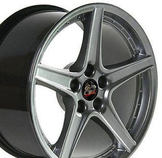 Single 18x9 Hyper Silver Saleen Wheel Fits Mustang® 94 04