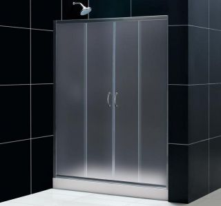 Visions 56 60 X 72 Frosted Glass Shower Door SHDR 1160726 0​4 FR
