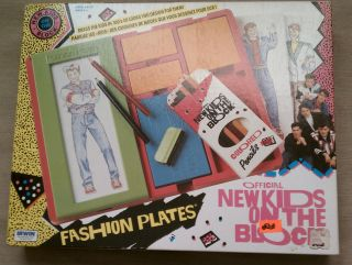 NEW VINTAGE IRWIN FASHION PLATES NEW KIDS ON THE BLOCK NIB VHTF made