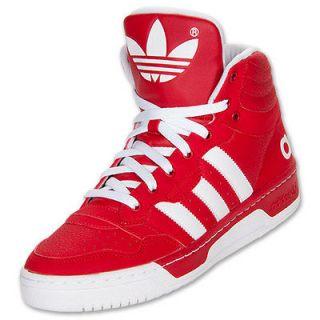 New Adidas Originals Mens IRVINGTON Mid Retro Red White hard court top