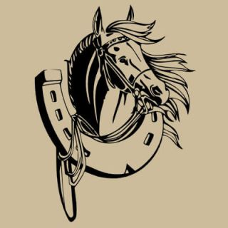 Horse and Horseshoe Wall Decal Art