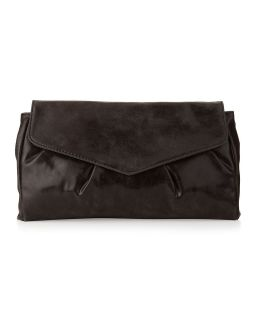 Handbags by Romeo & Juliet Couture Ivy Folded Pleat Clutch, Black