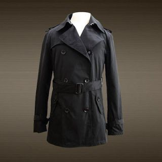 nwt mens fashion trench coat jacket summer style black more