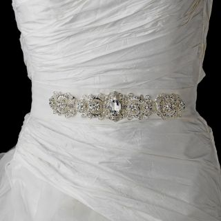 Pearl & Rhinestone Bridal Wedding Dress Sash Belt White or Ivory