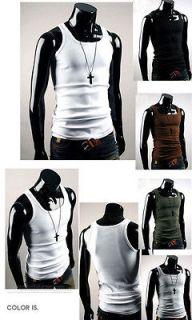 100%Cotton muscle Vest Men Slim Fit Sexy Stylish Tank Tops Sleeveless