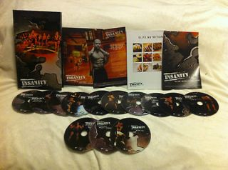 Shaun T 60 Day Insanity Workout 13 dvd set from Beachbody New Factory
