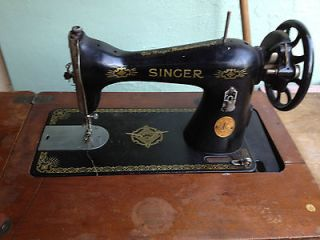 Vintage Singer Sewing Machine with Cabinet Manual Machine