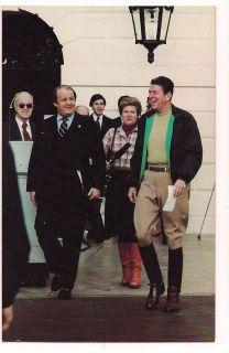 RONALD REAGAN in Horse Riding Clothes James Brady POSTCARD 1981