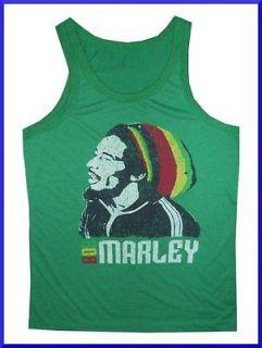 Men Tank Top REGGAE Jamaica Music Marijuana Ganja Weed Rasta Vintage M