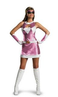 womens mighty morphin dlx pink power ranger costume more options