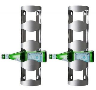 IKEA 2 wine racks 8 bottles stainless steel wall mount bar storage