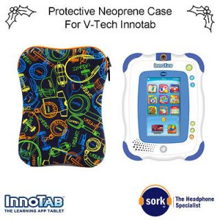 Padded Neoprene Zipped Case Also for iPad Tablet Netbook Kindle