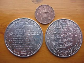Newly listed Ten Commandments Alloy Coin New Christian Double sided