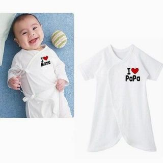 Baby BB Infant Clothes Underwear Cotton Romper I love papa/ mama